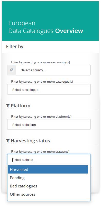 Select Harvesting Status